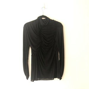 3.1 Phillip Lim Sheer Mock Neck Long Sleeve Blouse